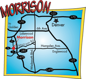 Morrison Colorado Map Morrison Map | Whitewater Rafting Denver Colorado | Geo Tours